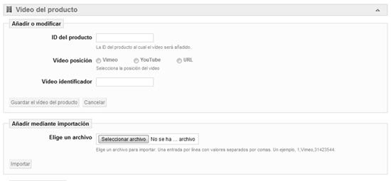 Configuraciones módulos youtube Prestashop