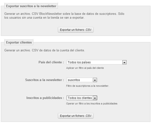 Configuración Newsletter Prestashop 1.5