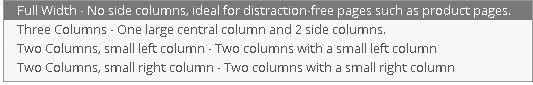 Columnas a mostrar en la sección