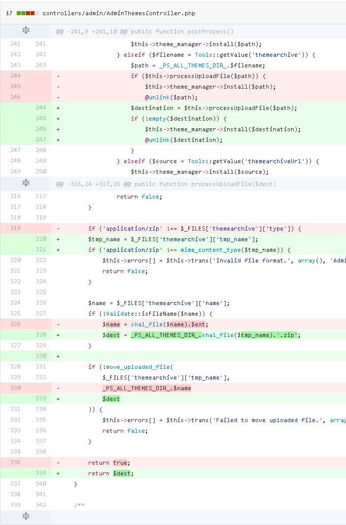 Bug al importar plantillas en Prestashop 1.7.0.3