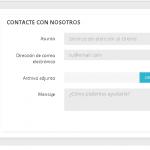 ¿Dónde está el fichero del formulario de contacto en Prestashop 1.7?