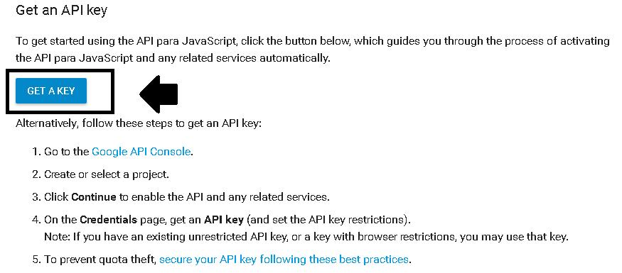Obtener la clave de la API