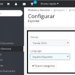 ¿Exportar categorías por CSV en Prestashop 1.7?