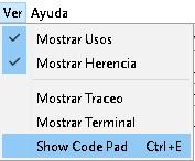 Consola para escribir código en BlueJ