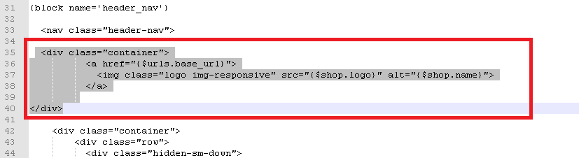 Código logo Prestashop 1.7 cambio ubicación