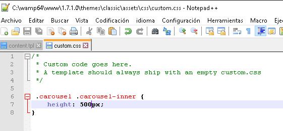 CSS personalizado en Prestashop 1.7