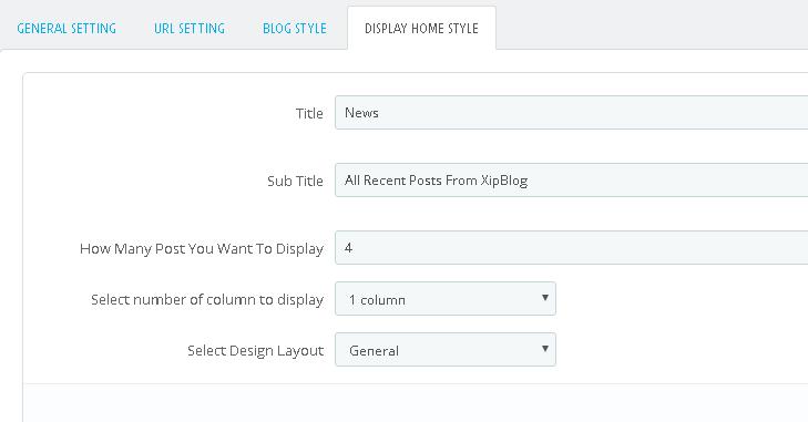 Opciones página principal Blog en Prestashop 1.7