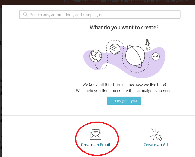 Creación campaña Mailchimp