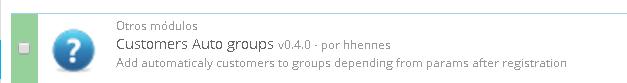 Instalando módulo que nos permitirá una asociación automática de los grupos a los usuarios que se registren en la tienda en base a unos determinados criterios