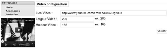 Configurando módulo de Youtube para Prestashop