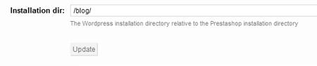 Indicando en la configuración del módulo el directorio donde esta la instalación de WordPress