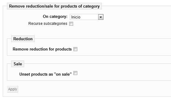 Descuentos de productos por categoría