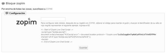 Configurando el módulo para poder integrar el chat en Prestashop