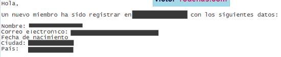 Email recibido