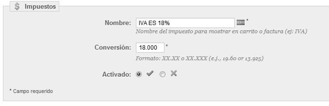 Editando IVA