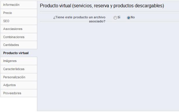 """Pestaña """"Producto virtual"""" de la ficha de edición del producto"""