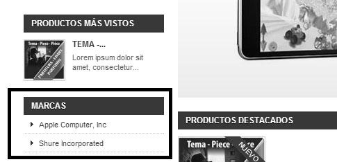 Visualizar bloque de marcas en listado en Prestashop