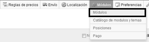 Acceder zona módulos