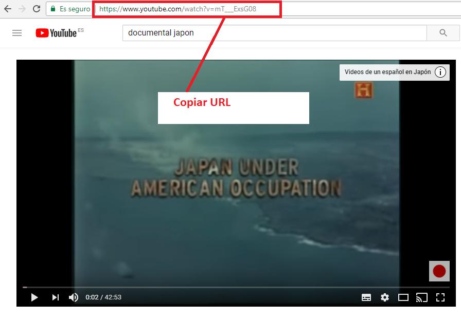 Copiar URL Vídeo