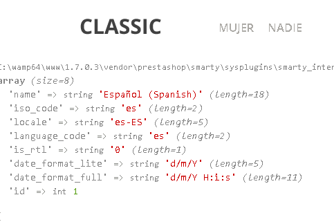 Variables globales de los idiomas en Prestashop 1.7