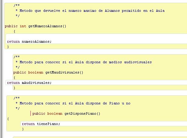 Código mal organizado en BlueJ