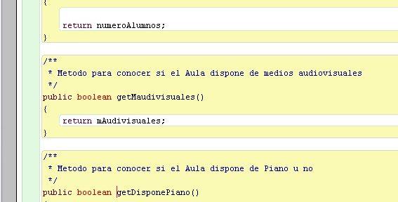 Organizar código en BlueJ