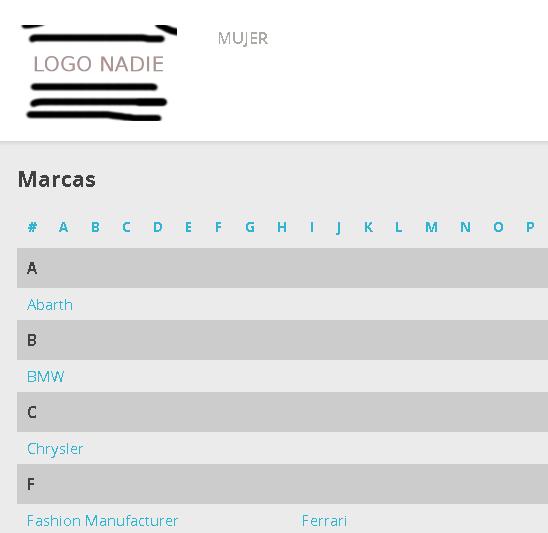 Listado de marcas / fabricantes ordenados en Prestashop