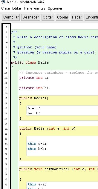 Ver número de línea en BlueJ