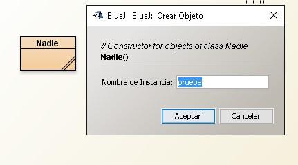 Crear objeto de una clase en BlueJ