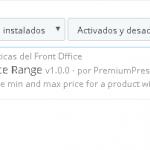 Mostrar rango de precios de las combinaciones en Prestashop