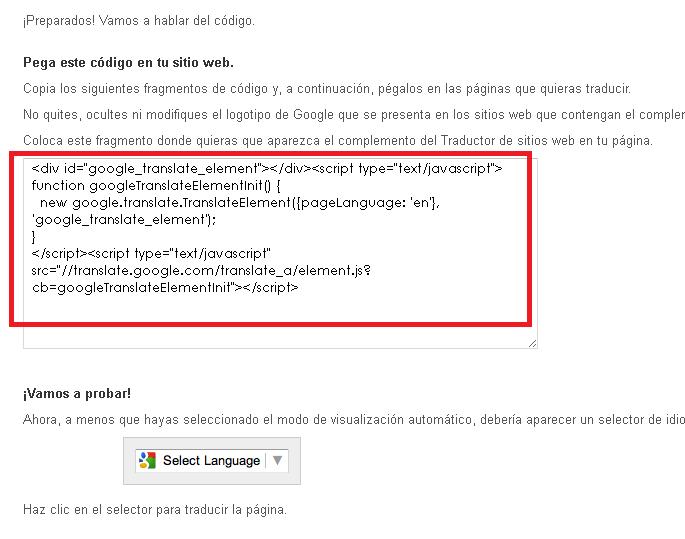 Código preparado para insertar en Prestashop 1.7