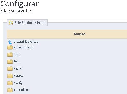 Explorando archivos en el panel de administración en Prestashop 1.7