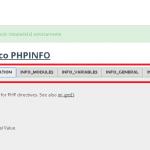 Información sobre la configuración de PHP en el panel de Prestashop