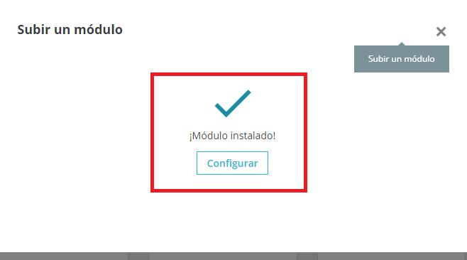 Módulo instalado y acceder a su configuración