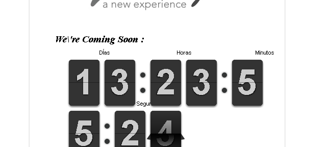 Cronometro en la página de mantenimiento de Prestashop