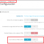Deshabilitar librería HTMLPurifier en Prestashop 1.6 y 1.7