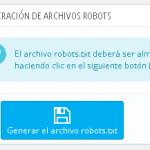 Editar robots.txt desde el panel en Prestashop