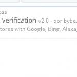 Verificación Google, Bing, Pinterest en Prestashop