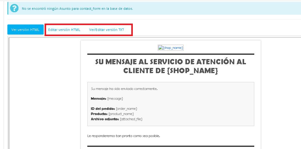 Editar email
