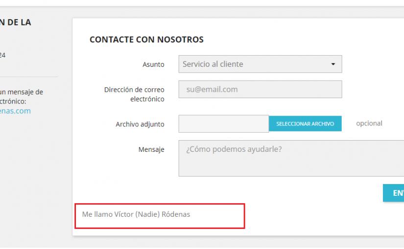 Añadir información adicional en el formulario de contacto de Prestashop
