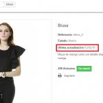 Mostrar fecha de modificación del producto en Prestashop