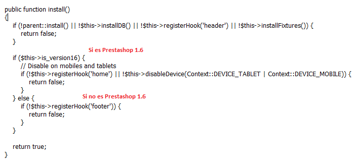 Código módulo