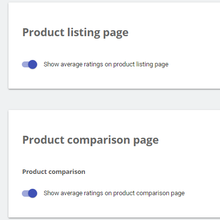 Bloques -> Product listing page y Product comparison page