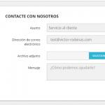 Quitar columnas en el formulario de contacto de Prestashop 1.7