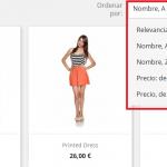 Añadir nuevo filtro de ordenación en los productos en Prestashop