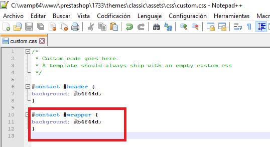 Código CSS