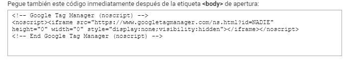 Segundo Bloque Google Tag